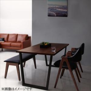 ダイニング/4点セット(テーブル+チェア2脚+ベンチ1脚) W120 天然木ウォールナットモダンデザイン Wyrd ヴィールド purana25