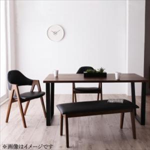 ダイニング/4点セット(テーブル+チェア2脚+ベンチ1脚) W150 天然木ウォールナットモダンデザイン Wyrd ヴィールド purana25