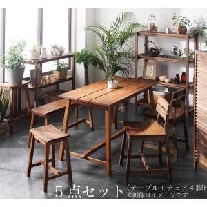 ルームガーデンファニチャーシリーズ Pflanze プフランツェ 5点セット(テーブル+チェア4脚) W120|purana25