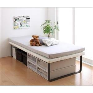 親子ベッド Bene&Chic ベーネ&チック 薄型軽量ポケットコイルマットレス付き 上段ベッド シングル|purana25