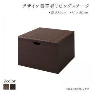 国産 収納付きデザイン美草畳リビングステージ 風凛 フーリン 畳ボックス収納 60×60cm ロータイプ|purana25