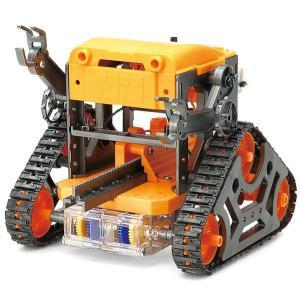 楽しい工作シリーズ(セット) 69922 カムプログラムロボット工作セット (ガンメタル/オレンジ)|purasen
