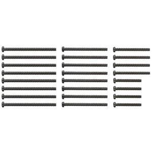 95434 ステンレスビスセット (15・20・25・30mm)(ブラック) STAINLESS STEEL SCREW SET (15/20/25/30mm) (BLACK)|purasen