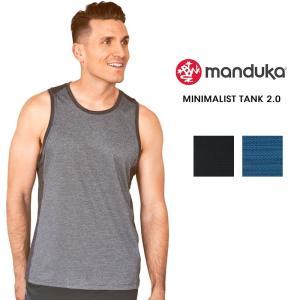 【送料無料メ】Manduka MEN'S ミニマリストタンク2.0 ヨガウェア おしゃれ タンクトップ メンズ メンズヨガ フィットネス ヨガトップス スポーツ マンドゥカ|puravida