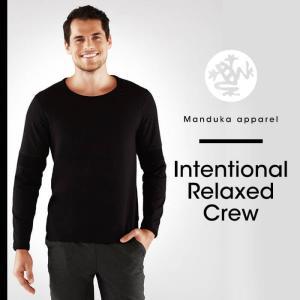 40%OFF Manduka MEN'S インテンショナルリラックスクルーヨガウェア ロンt ヨガウェア スポーツ フィットネス スポーツ ランニング メンズ|puravida