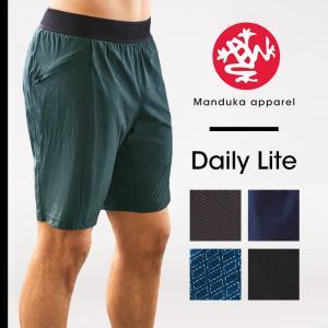 【送料無料メ】Manduka MEN'S デイリー ライト ヨガパンツ メンズ 男性用 ヨガウェア フィットネス ヨガトップス スポーツ ハーフパンツ マンドゥカ|puravida