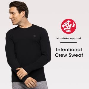 【送料無料メ】[Manduka] MEN'S インテンショナル クルー スウェット(男性用 長袖 Tシャツ) 18FW Intentional Crew Sweat ヨガウエア 《#723417》|puravida