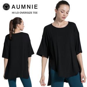 [AUMNIE] ハイロー オーバーサイズ Tee 19SS 女性用 半袖 Tシャツ ヨガウェア ヨガウエア トップス カットソー ホットヨガ 《SE005130130》|puravida