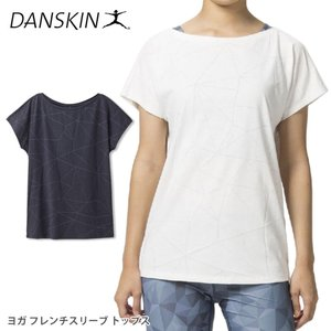 [DANSKIN] バーンアウトフレンチトップ(女性用 半袖Tシャツ 19SS ヨガウェア ヨガウエア レディース フレンチスリーブ トップス 《DB79119》|90312|「YC」|puravida