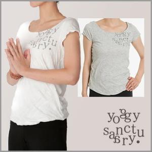 yoggy sanctuary エアリープリントスクープネック Tシャツ ヨガウェア トップス おしゃれ ヨガトップス Tシャツ レディース 半袖 スポーツ ヨガ|puravida