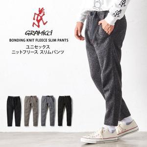 ロングパンツ  グラミチ GRAMICCI ボンディング ニットフリース スリムパンツ 19FW 暖パンツ 裏フリース 防寒 ズボン テーパード|puravida