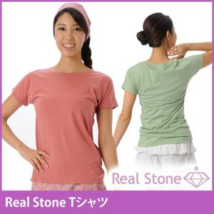 【完売】REAL STONE Tシャツ ヨガウェア トップス おしゃれ ヨガトップス Tシャツ レディース 半袖 スポーツ ヨガ|puravida