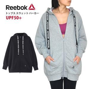 SALE20%OFF [Reebok] ビッグスウェットフーディー(女性用 長袖 トップス) 19SS パーカー スウェット 羽織り アウター ヨガウェア フィットネス ランニング ジム|puravida