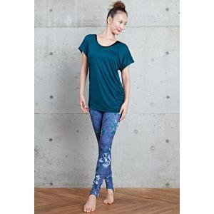 【送料無料メ】ヨガ Tシャツ [CHACOTT] ドレープTシャツ(女性用 トップス) 18FW ヨガウェア 《253211-0305-83》|81023|「SK」|puravida|04