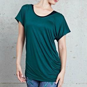 【送料無料メ】ヨガ Tシャツ [CHACOTT] ドレープTシャツ(女性用 トップス) 18FW ヨガウェア 《253211-0305-83》|81023|「SK」|puravida|06