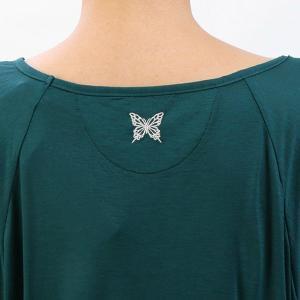 【送料無料メ】ヨガ Tシャツ [CHACOTT] ドレープTシャツ(女性用 トップス) 18FW ヨガウェア 《253211-0305-83》|81023|「SK」|puravida|07