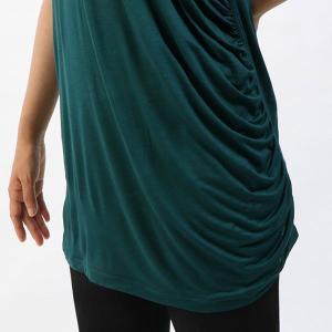 【送料無料メ】ヨガ Tシャツ [CHACOTT] ドレープTシャツ(女性用 トップス) 18FW ヨガウェア 《253211-0305-83》|81023|「SK」|puravida|08