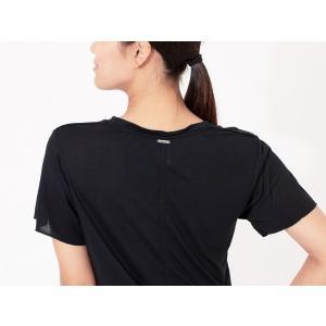 ヨガウェア ヨガ トップス リクイド LIQUIDO エッセンシャル トップ 19FW Tシャツ カットソー 体型カバー 半袖 ゆったり Vネック|puravida|03