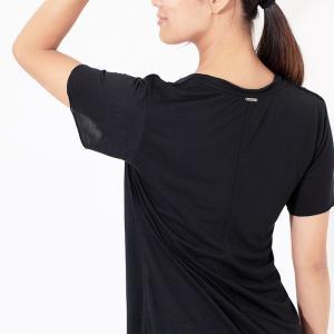 ヨガウェア ヨガ トップス リクイド LIQUIDO エッセンシャル トップ 19FW Tシャツ カットソー 体型カバー 半袖 ゆったり Vネック|puravida|10