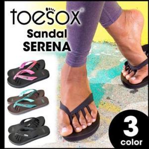 toesox セレナ レディースサンダル 歩きやすい ぺたんこ おしゃれ スポーツ 歩きやすい 疲れない ビーチサンダル サンダル 靴 トゥーソックス ヨガマットソール|puravida