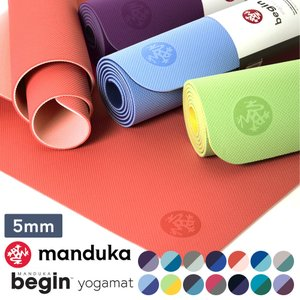 BEGIN ヨガマット 5mm トレーニング ビギン フィットネス ヨガ メンズヨガ 軽量 ホットヨガ リバーシブル yoga mat Manduka ヨガマット|puravida