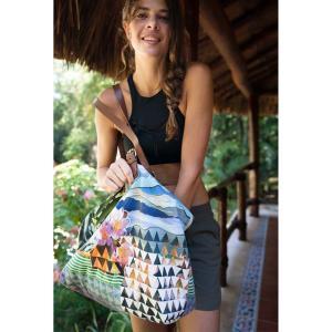 50%OFF  コットン トートバッグ[PRANA] スローチ トート(大容量 トートバッグ)/ヨガ バッグ フィットネス ビーチ リゾート 旅行 トラベル 買い物|puravida|02