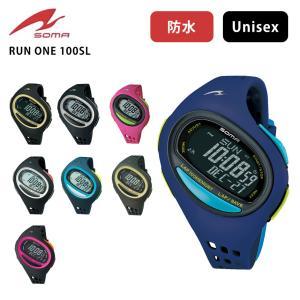 40%OFF  (SOMA) ソーマ RUN ONE 100SL (ホワイト×ブラック) ランニング 時計 ジョギング ウォーキング マラソン セイコーインスツル|puravida