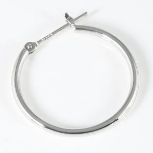 ホワイトゴールド メンズ ピアス シンプル 輪 丸型 リング 人気...