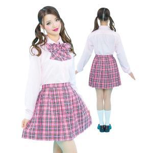 コスプレ セーラー服 制服 ピンク チェック 衣装|pure2009