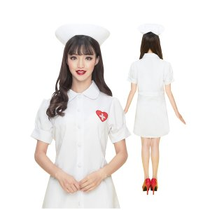 コスプレ ナース服 ホワイト 白 制服 白衣|pure2009