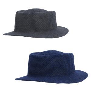 ハット メンズ 2種 カンカン帽 カジュアル ファッション グレー ネイビー pure2009