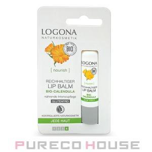 LOGONA(ロゴナ) ディープモイスチャー リップクリーム 〈キャレンデュラ〉 4.5g【メール便可】|pureco2nd