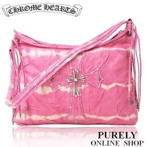 新品正規品 クロムハーツ CHROME HEARTS バッグ メンズ レディース PINK TIE D CHクロス レザー ショルダーバッグ|purely
