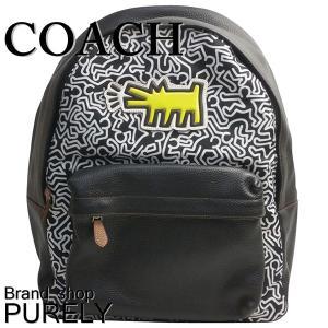 コーチ COACH バッグ メンズ アウトレット コーチ×キースヘリング チャールズ バック パック リュック サック F11706 QBMGS ブラック×チョークマルチ|purely