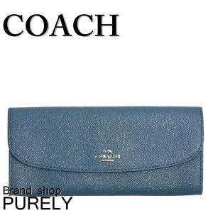コーチ COACH 財布 レディース アウトレット  グリッター レザー ソフト ウォレット F11835 SVCEH ダークティール|purely