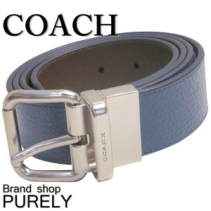 コーチ COACH 小物 メンズベルト メンズ アウトレット レザー バックル リバーシブル F12153 MI7 ダークデニム×マホガニー|purely