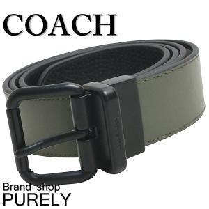コーチ COACH 小物 メンズベルト メンズ アウトレット バックル リバーシブル F12189 MGBK ブラック×ミリタリーグリーン|purely