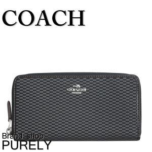 コーチ COACH 財布 長財布 レディースアウトレット レガシージャガード ファブリック F13677 SGYBK グレー×ブラック|purely