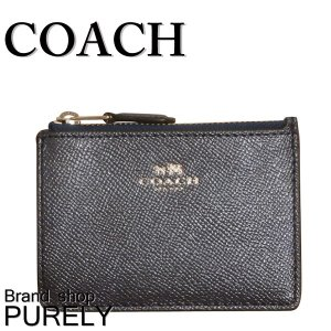 コーチ COACH 財布 レディースコインケース レディース アウトレット ウォレット パスケース F21072 SVLBI メタリックネイビー|purely