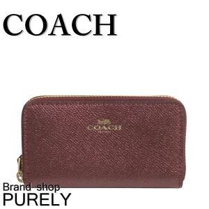 コーチ COACH 財布 レディースコインケース レディース アウトレット メタリック ダブルジップ F23750 IME42 メタリックチェリー|purely