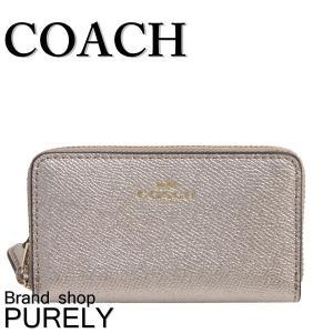 コーチ COACH 財布 レディースコインケース レディース アウトレット メタリック ダブルジップ F23750 IMLH4 プラチナ|purely