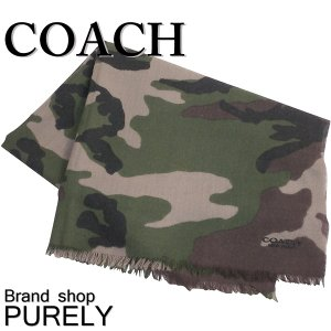 コーチ COACH メンズ レディース アウトレット カモフラージュ ウール スカーフ マフラー F54190 MGP ダークグリーンカモ|purely
