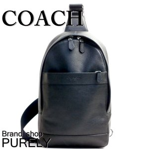 コーチ COACH バッグ メンズ ショルダーバッグ F54770 BLK ブラック ボディ バッグ スリング パック アウトレット スムース レザー チャールズ パック|purely