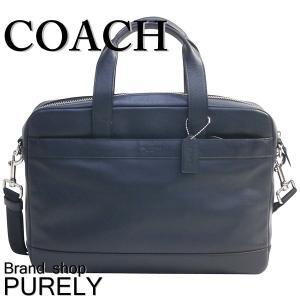 コーチ COACH バッグ メンズ アウトレット ビジネスバッグ ハミルトン レザー バッグ ブリーフ ケース F54801 MID ミッドナイト|purely