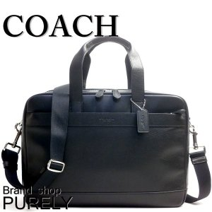 コーチ COACH バッグ メンズ アウトレット ビジネスバッグ レザー ハミルトン コミューター バッグ ブリーフ ケース F54804 BLK ブラック purely