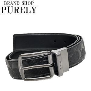 コーチ COACH 小物 メンズ ベルト アウトレット レザー シグネチャー F55157 BLK ブラック コーチ COACH|purely