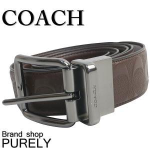 コーチ COACH 小物 メンズ ベルト アウトレット レザー シグネチャー F55157 MAH マホガニー コーチ COACH|purely