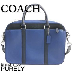コーチ COACH バッグ メンズ アウトレット ブリーフケース ビジネスバッグ レザー ペリー スリム ブリーフ F56018 LLX ミッドナイト×ブラック|purely