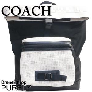 コーチ COACH バッグ メンズ リュック アウトレット パーフォレイテッド レザー テイレン バックパック F56662 HABK チョーク×ブラック|purely