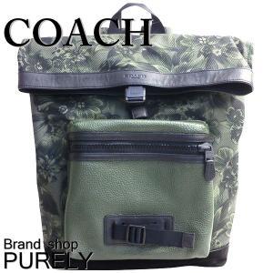 コーチ COACH バッグ メンズ リュック アウトレット フローラル ハワイアン プリント テイレン バックパック F56663 M51 グリーンマルチ|purely